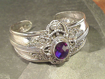 Rainbow Quartz, Sterling Cuff Bracelet