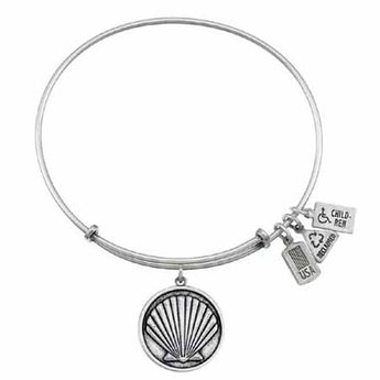 Sea Shell Charm Bangle, Recycled Brass