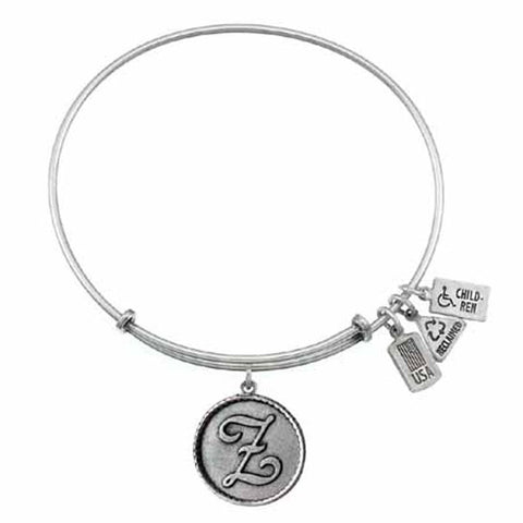 "Love Letters ""Z"" Charm Bangle, Recycled Brass"
