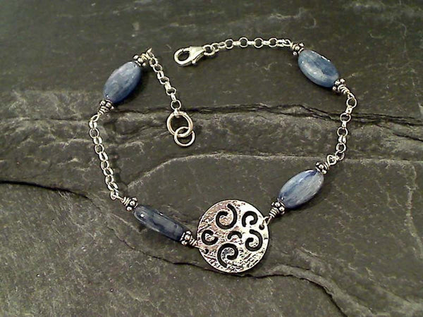 "7.75"" Kyanite, Sterling Silver Bracelet"