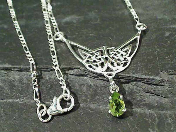 "17"" Peridot, Sterling Silver Necklace"