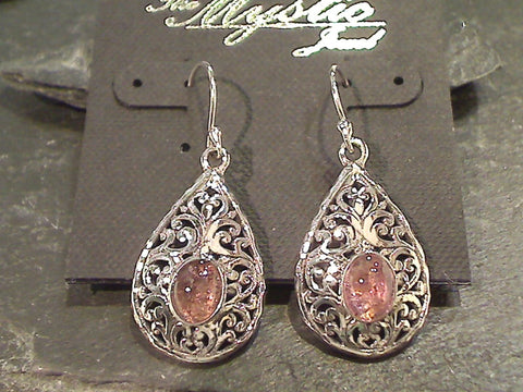 Tourmaline, Sterling Silver Earrings
