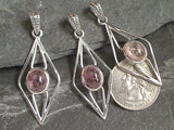 Pink Tourmaline, Sterling Silver Pendant