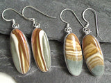 Polychrome Jasper, Sterling Silver Earrings