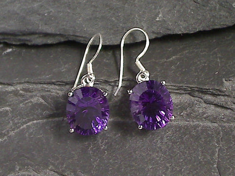 Amethyst, Sterling Silver Earrings
