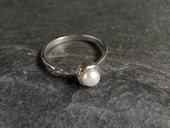 Size 10 Pearl, Sterling Silver Ring