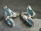 Size 6 Blue Topaz, Sterling Silver Ring