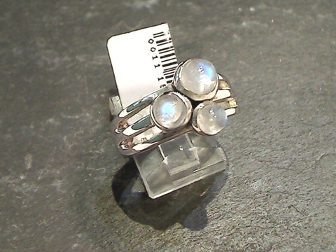 Size 8.75 Moonstone, Sterling Silver Ring