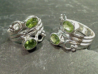 Size 7 Peridot, Sterling Silver Ring