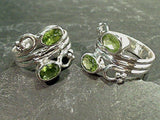 Size 8 Peridot, Sterling Silver Ring