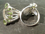 Size 5.75 Peridot, Sterling Silver Ring