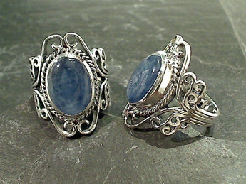 Size 8 Kyanite, Sterling Silver Ring