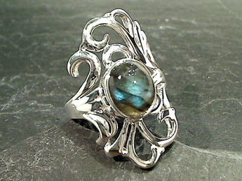 Size 10.25 Labradorite, Sterling Silver Ring