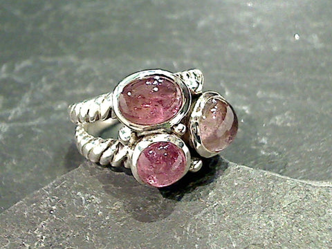 Size 5.5 Tourmaline, Sterling Silver Ring