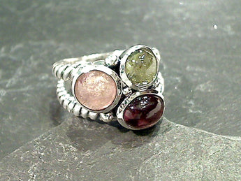 Size 8 Tourmaline, Sterling Silver Ring