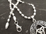 24'' 3mm Oval Bead Chain, Sterling Silver