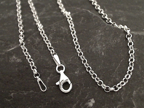"18"" 2.5mm Round Rolo Chain, Sterling Silver"