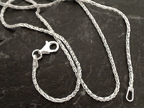 "30"" 1.5mm Di-Cut Wheat Link Chain, Sterling Silver"