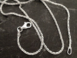 "16"" 1.5mm Di-Cut Wheat Link Chain, Sterling Silver"