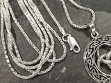 16'' 1.5mm Di-Cut Wheat Link Chain, Sterling Silver