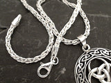 30'' 3mm Di-Cut Wheat Link Chain, Sterling Silver