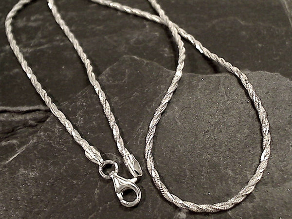 "16"" 1.5mm Di-Cut Rope Chain, Sterling Silver"