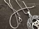16'' 1.5mm Oxidized Sterling Silver Franco Link Chain