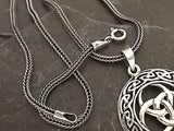 22'' 2mm Oxidized Sterling Silver Franco Link Chain