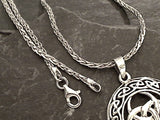 16'' 2mm Oxidized Di-Cut Sterling Silver Wheat Link Chain