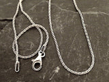 "24"" 1mm Oxidized Sterling Silver Wheat Link Chain"