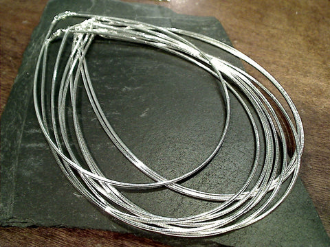 "18"" 1.85mm Round Omega Chain / Neck Wire, Sterling Silver"