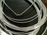 20'' 2mm Round Omega Chain / Neck Wire, Sterling Silver
