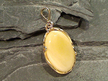 Copal, Gold Plate Over Sterling Silver Pendant