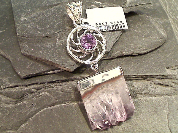 Amethyst Stalactite, Amethyst, Sterling Silver Pendant