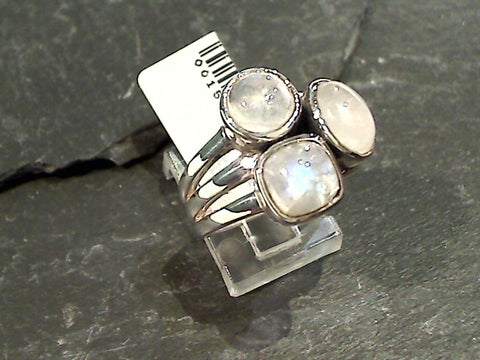 Size 6 Moonstone, Sterling Silver Ring