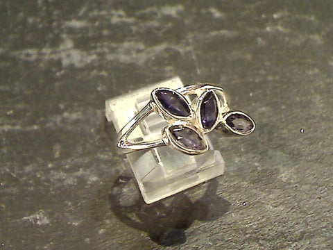 Size 7 Iolite, Sterling Silver Ring