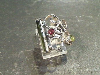 Size 6 Tourmaline, Sterling Silver Ring