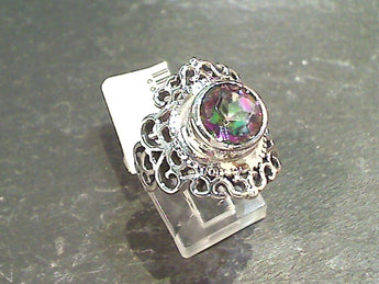 Size 7 Mystic Quartz, Sterling Silver Ring