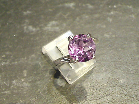 Size 7 Amethyst, Sterling Silver Ring