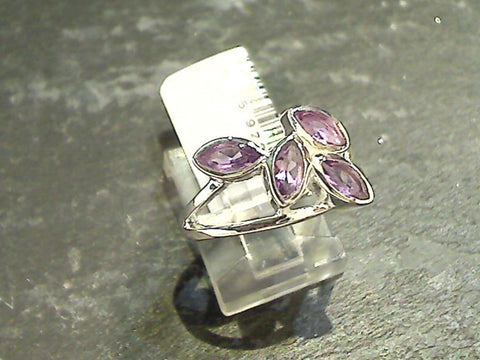 Size 7.75 Amethyst, Sterling Silver Ring