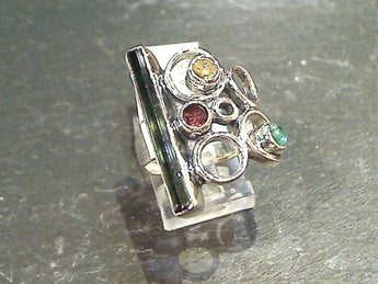 Size 9 Tourmaline, Sterling Silver Ring