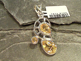 Citrine, Sterling Silver Pendant