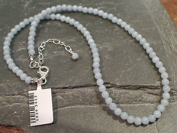 "19"" - 21"" Angelite, Sterling Silver Necklace"