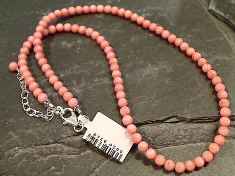 "18"" - 20"" Coral, Sterling Silver Necklace"