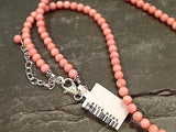 18'' - 20'' Coral, Sterling Silver Necklace