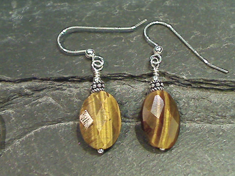 Tiger's Eye, Sterling Silver Earrings