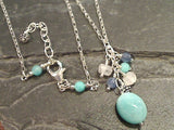 "18"" - 19"" Amazonite, Moonstone, Kyanite, Sterling Silver Necklace"