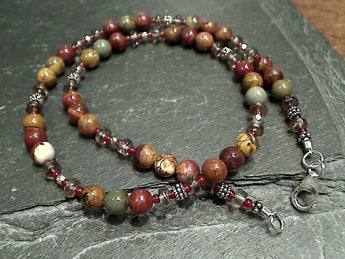 "17.5"" Petrified Wood, Sterling Silver Necklace"