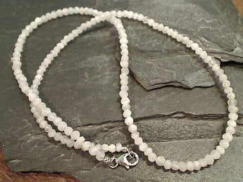 "20"" Moonstone, Sterling Silver Necklace"