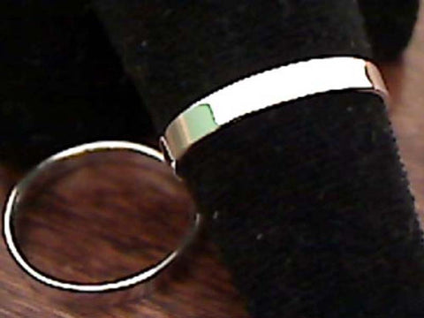 SIZE 5.75 STERLING SILVER 3MM RING